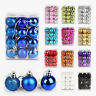 30-80MM Christmas Tree Xmas Balls Decorations Baubles Party Wedding Ornament Dy