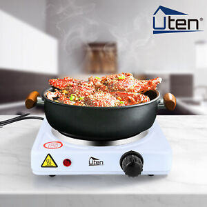 1000W Electric Hot Plate Portable Table Top Single Cooker Stove Kitchen Utensils