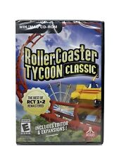 New Sealed Roller Coaster Tycoon Classic- WIN/MAC CD-ROM