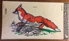 Decal fox Vintage 1979 hand painted effect, Decorcal, self adhesive W-24 Fox
