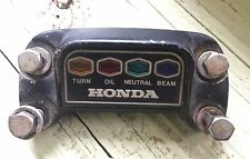 1972 Honda CB500 Four handle bar clamp and indicator light panel