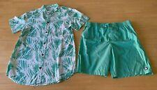 Boys size 16 button up short sleeve shirt & Green Board shorts Target New