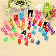 New 40 Pair Orignal Daily Wear Shoes High Heels For Barbie Doll Doll Dress