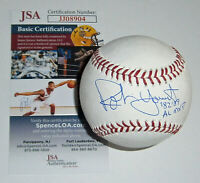 BREWERS Robin Yount signed baseball w/ '82 '89 AL MVP JSA COA AUTO Autographed