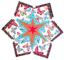 "BUTTERFLIES 55-4"" Quilt Squares Batik Kits Hawaiian Blocks PRE CUT PATCHWORK"