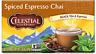 Celestial Seasonings Spiced Espresso Chai Tea, NEW 20 bags boxed