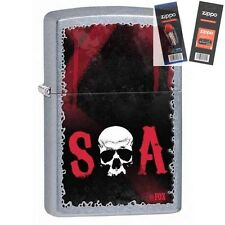 Zippo 28836 sons of anarchy soa Lighter with *FLINT & WICK GIFT SET*