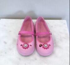 Girls Crocs Keeley Maryjane Flats Shoes Pink Flower Size 13
