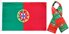 "Wholesale Combo Set Portugal Country 3x5 3'x5' Flag and 8""x60"" Scarf"