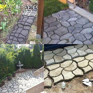 4* Pflasterform Schalungsform Garten Schablone Betonpflaster Gießform Gehweg DIY