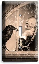 ALFRED HITCHCOCK THE BIRDS CROW TV ROOM I GANG LIGHT SWITCH WALL PLATE ART DECOR