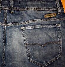ORIGINAL DIESEL USED JOGG-JEANS NARROT SLIM SKINNY SWEAT PANTS BLUE W 36 XL-XXL