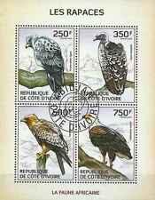 Timbres Oiseaux Rapaces Cote d'Ivoire 1310/3 o année 2014 lot 14341