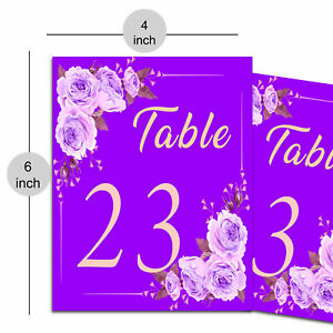 Decorative Paper Table Number for Reserve Table in Anniversary, Birthday Party