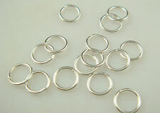 HOT 200Pcs 8mm size Silver Plated Open Jump Ring Connector Jewelry Finding gedv6