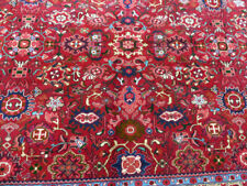 10'x13' Finest Handmade wool Red & Navy Authentic Floral Nananj Oriental rug