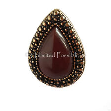 SAMANTHA WILLS BB New Chocolate Gold Bohemian Teardrop Bardot Ring Tag Pouch