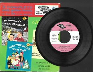 CHRISTMAS SONGS 3 COMPLETE LITTLE GOLDEN RECORDS 45 RPM