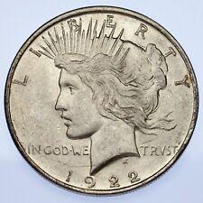 1922-D $1 Peace Dollar Choice BU, Excellent Eye Appeal, Full Mint Lister