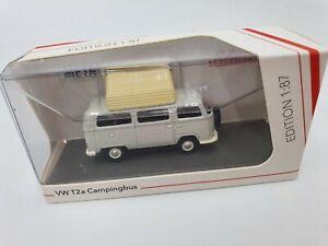 Schuco 26404 - 1/87 VW T2a Camping Bus Avec Ouvert Toit, Gris Blanc - Neuf