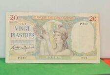 New listing French Indo-china 20 Piastres Banknote Au