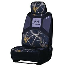 REALTREE BLACK CAMO CAMOUFLAGE UNIVERSAL SEAT COVER , CAR, AUTO, TRUCK, LOW BACK