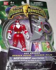 "Mighty Morphin Power Rangers Red 4"" with Light up Dino Fly 2010 New TRANSPARENT"