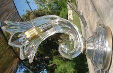 Intéressante & Rare Applique Art Deco 1950 en verre formant Corne d'Abondance