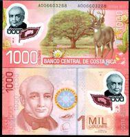 COSTA RICA 1000 COLONES 2009 P 274 POLYMER AU-UNC