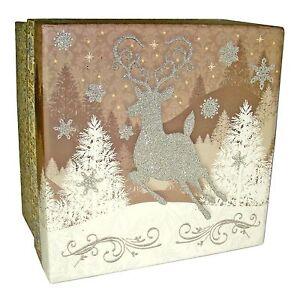 Pooch & Sweetheart Christmas Keepsake Box Reindeer Heart 80917 XXL Punch Studio