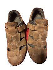 TIMBERLAND Altamont Brown Sz 10M Men Fisherman Leather Sandals