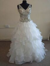 Unbranded Tulle V Neck Sleeveless Wedding Dresses