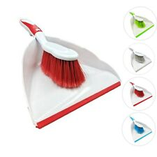 Dustpan and Brush Set Home Cleaning Dust Pan Soft Hand Broom 4 Colours Available