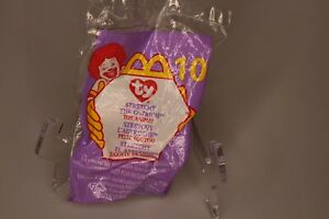 Mc Donald's 1999 Mini Beanie Baby Toy #10 Stretchy the Ostrich Tag Error