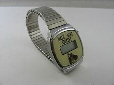 Rare Vintage MAKE MINE COUNTRY Music LCD Watch Wristwatch