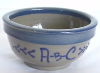 BBP Beaumont Brothers Pottery Salt Glazed ABC Child's Bowl Trinket Pin Dish USA