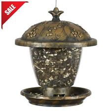 Vintage Gilded Chalet Wild Bird Feeder 2 lbs. Seed Capacity Great For Winter