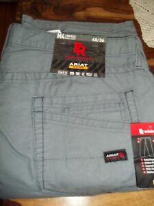 Ariat 10017226 Men's Grey FR M4 FLAME - RESISTANT Low Rise  Boot Cut Work Pants