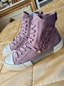 ALL SAINTS Suede Embroidered High Top Sneakers BNWOT. Sz 37.