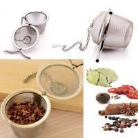 New Infuser Strainer Mesh Tea Filter Spoon Stainless Steel Locking Spice Ball