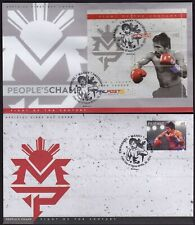 Philippines Sports Boxing Champ Manny Pacquiao 1v + S/S complete set on 2 FDC
