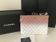 Chanel Pouch Dusty Pink With White Combo NEW