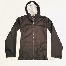 i5 Apparel Woman's Hooded Winter Rain Jacket Black Size XL Water Resistant