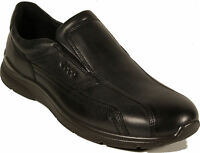 ECCO Schuhe Modell IRVING Slipper Halbschuhe schwarz Leder Wechselfußbett NEU