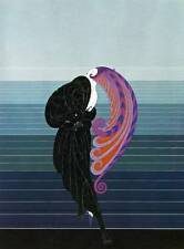 "Original Erte Art Deco Print ""Beauty and the Beast"" Authentic Vintage Fashion"