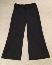 LADIES DRESS SLACKS GRAY FRONT ZIPPER POLYESTER BLEND FITS 8-10 See Details