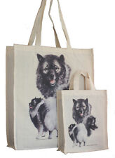 More details for keeshond dog adult & child shopping or dog treats packed lunch etc tote bag