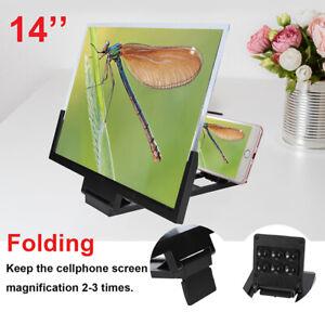 14 Inch 3D Video Phone screen magnifier Video Amplifier Smartphone Stand Bracket