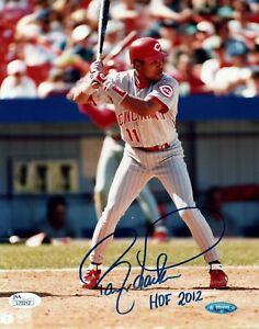 Barry Larkin Baseball HOF Signed 8x10 Photo with JSA COA