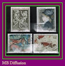 1968 -TIMBRE FRANCE OBL- TABLEAUX-PEINTURE-ART-Y/t.1555/68/9/0-STAMP/USED-(a24)